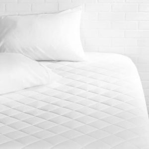 #5. AmazonBasics Hypoallergenic Quilted 18 Inch Deep Mattress Topper Pad Cover, Full