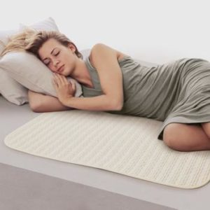 #6. Waterproof Bed Pad Reusable and Washable Underpads, 100% Cotton Surface, 4 Layer