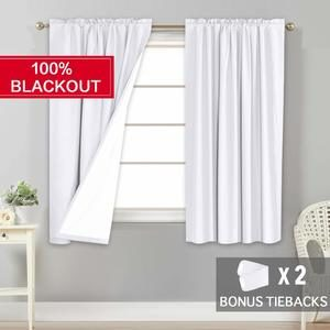 10. Flamingo P White Waterproof Curtains -100% Blackout