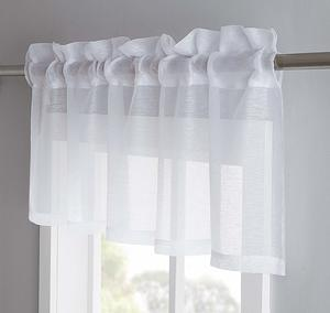 5. LinenZone Jane - Semi-Sheer Window Valance (54 x 18)