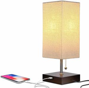 6. Brightech Grace LED USB Bedside Table & Desk Lamp