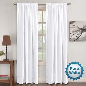 6. Window Treatment Curtains Insulated Thermal White Curtains