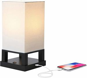 7. Brightech Maxwell - Bedroom Nightstand Lamp with USB Ports