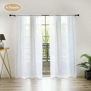 8. Anjee 96 inches Long Voile Curtain