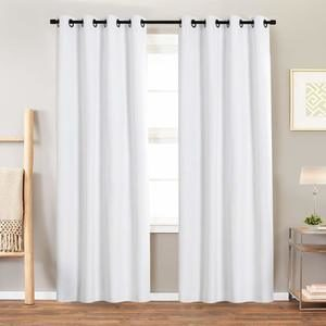 9. Blackout Curtain White for Bedroom 84 inch