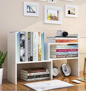 9. Expandable Wood Desktop Bookshelf Desktop Organizer