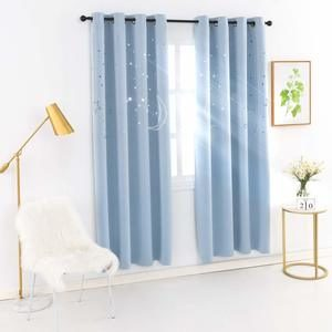 9. MANGATA CASA Kids Star Blackout Curtains