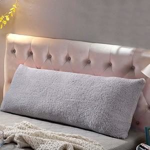 9. Reafort Ultra Soft Sherpa Body Pillow Cover Case