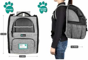 #1 PetAmi Deluxe Pet Carrier Backpack