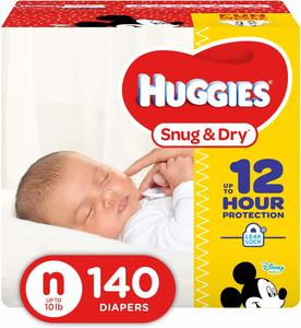 1. HUGGIES Snug & Dry Diapers