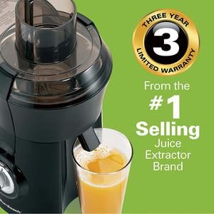 #1. Hamilton Beach Juicer, Big Mouth 3-InchFeed Chute