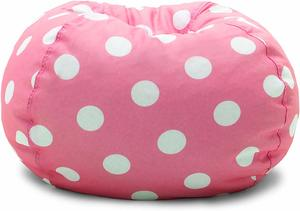 #10 Big Joe, Candy Pink Polka Dot Bean Bag Chair