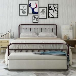 11. HOMERECOMMEND Metal Bed Frame Queen Size