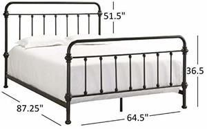 12. Tribecca Home Giselle Antique Dark Bronze Iron Metal Bed