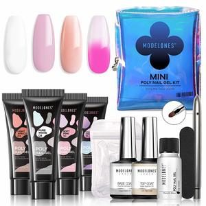 #15. Modelones Poly Nail Kit Mini French Gel Enhancement Builder Acrylic Color Changing Extension for Travel