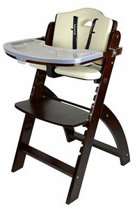 2. Abiie Beyond Wooden High Chair (Mahogany Wood - Cream Cushion)
