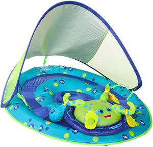 2. SwimWays Baby Spring Float Activity Center with Canopy