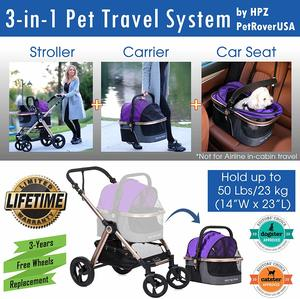 #4 HPZ Pet Rover Prime 3-in-1 Pet Stroller