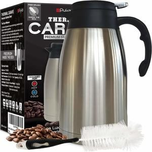 #6. Thermal Coffee Carafe 2 Liter 68oz Stainless Steel Insulated Heavy Duty Coffee thermos
