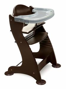 7. Embassy Height Adjustable Wood Baby High Chair