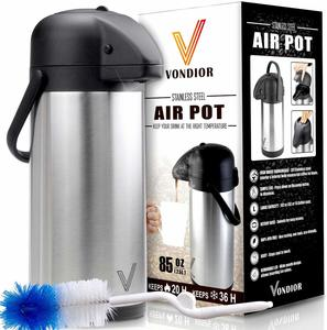 #7. Thermal Coffee Airpot - Stainless Steel Beverage Dispenser (85oz.)