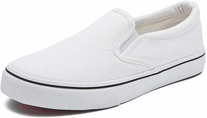 #7. Women's Canvas Slip On White Sneakers Fashion Flat Canvas Shoes