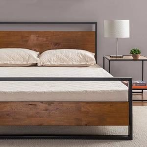 7. Zinus Suzanne Metal and Wood Platform Bed