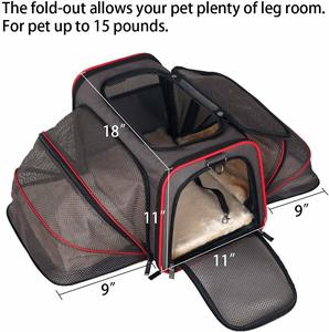 #8 Petsfit Cat Carrier Expandable Dog Carrier