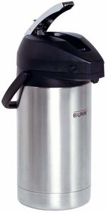 #8. BUNN 32130.0000 Lever-Action Airpot, 3.0-Liter Capacity, Stainless Steel
