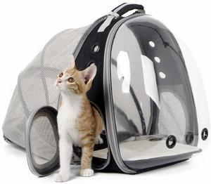 #9 halinfer Expandable Cat Backpack