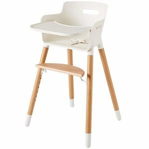 9. Wooden High Chair for Babies and Toddlers