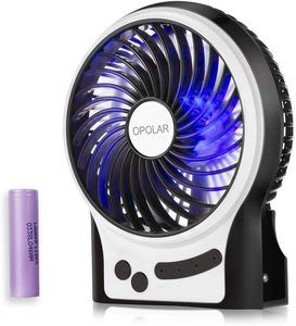 #10 OPOLAR Small Rechargeable Handheld Fan