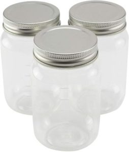 10. 3ct. Plastic Mason Jars by Craft Smart