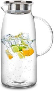 3. 60 Ounces Glass Pitcher with Lid
