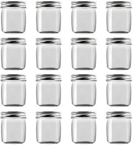 4. Novelinks 8 Ounce Clear Plastic Jars Containers