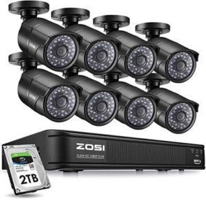 4. ZOSI PoE Home Security Camera System with Long Night Vision