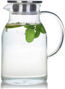 5. Karafu 68 Ounces Glass Pitcher with Lid