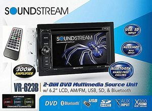 #6. Soundstream VR-623B 6.2-inch High-Resolution Touchscreen