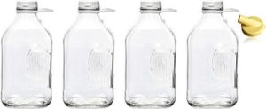 6. The Dairy Shoppe Heavy Glass Milk Bottles