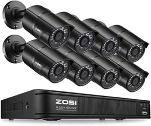 6. ZOSI 1080p H.265+ PoE Home Security Camera System