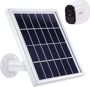 7. Blulu Solar Panel, Waterproof Arlo Accessory