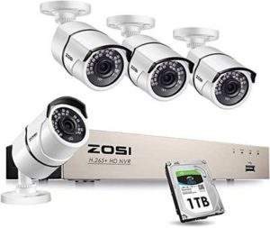 7. ZOSI PoE Home Security Camera System for 247 Recording