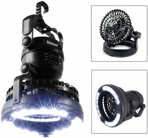 #8 Odoland Portable Fan and LED Camping Lantern
