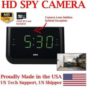 9. SecureGuard HD 720p USB Charger & Clock Radio Spy Camera