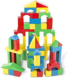 #1 Melissa & Doug 100-Piece Wood Blocks Set