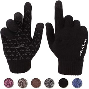 1. Achiou Winter Knit Touchscreen Gloves