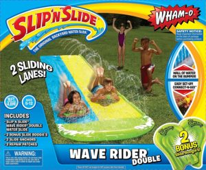 #1. Wham-O Slip N Slide Double Lane Wave Rider
