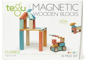#10 42 Piece Tegu Magnetic Wooden Block Set