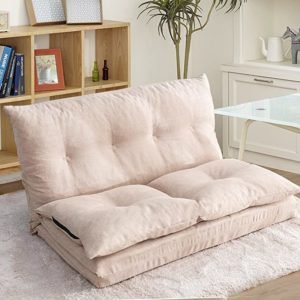 #10 Fabric Floor Couch Lounge with 5 Adjustable Reclining Position
