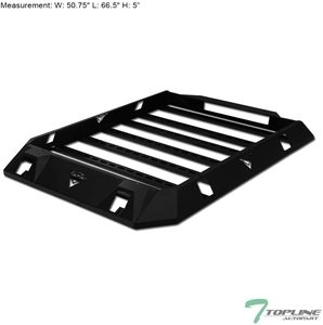 10 Topline Autopart Black Steel Roof Rack